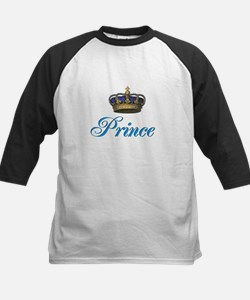 Blue Prince text with crown Baseball Jersey