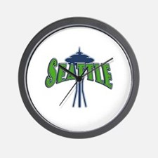 Seattle with the Needle Wall Clock