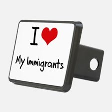 I Love My Immigrants Hitch Cover