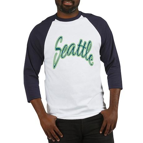 Breezy Seattle Script Baseball Jersey