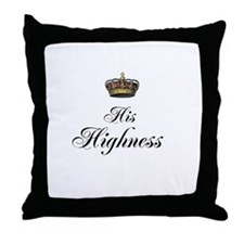 His Highness Throw Pillow