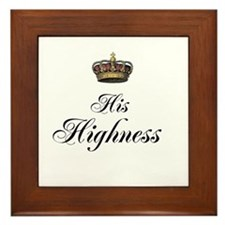 His Highness Framed Tile