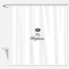 His Highness Shower Curtain