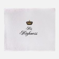 His Highness Throw Blanket