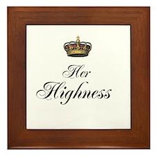 Her Highness Framed Tile