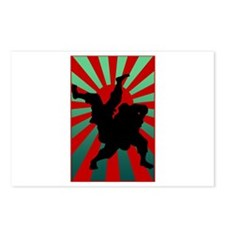 judo sun rising Postcards (Package of 8)