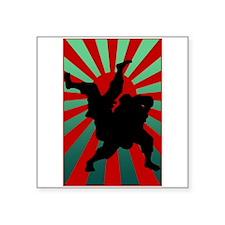 """judo sun rising Square Sticker 3"""" x 3"""""""