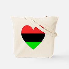 USA Flag Heart Valentine Tote Bag