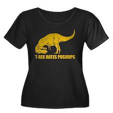 Funny T-rex Plus Size T-Shirt