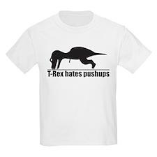Funny T-rex Hates Pushups T-Shirt