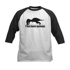 Funny T-rex Hates Pushups Baseball Jersey