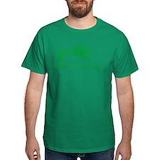Funny Green T-rex Hates Pushups T-Shirt