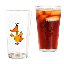 Dancing Duck Drinking Glass