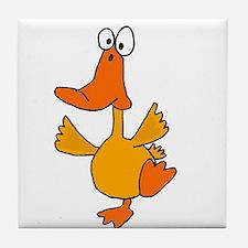 Dancing Duck Tile Coaster