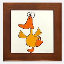 Dancing Duck Framed Tile