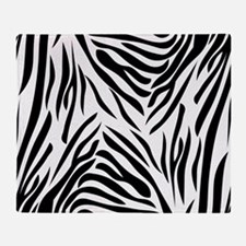 Black And White Zebra Print Throw Blanket