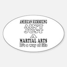 American Kickboxing Martial Arts Designs Decal