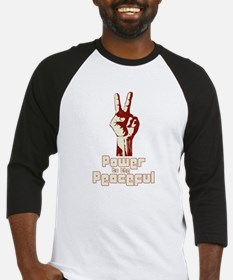 Power to the Peaceful Baseball Jersey