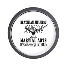 Brazilian Jiu Jitsu Martial Arts Designs Wall Cloc