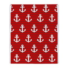 'Red Anchors' Throw Blanket