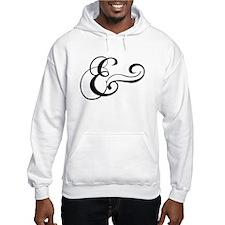 ampersand sign, and symbol, et, letter, & Hoodie