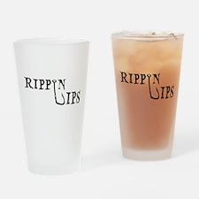 Rippin Lips Logo Drinking Glass