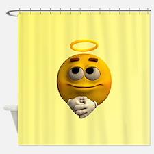 Angelic Emoticon Shower Curtain