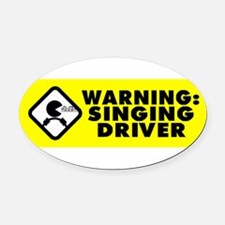 Cute Sing Oval Car Magnet