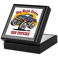 Monster Truck 4th Birthday Keepsake Box