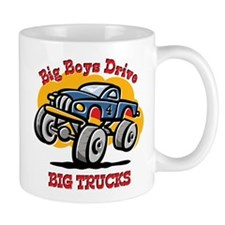 Monster Truck 4th Birthday Mug