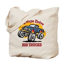 Monster Truck 4th Birthday Tote Bag