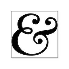 ampersand sign, and symbol, et, letter, & Sticker