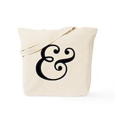 ampersand sign, and symbol, et, letter, & Tote Bag