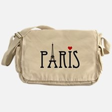 Love Paris with Eiffel tower and red heart Messeng