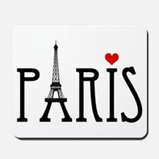 Love Paris with Eiffel tower and red heart Mousepa