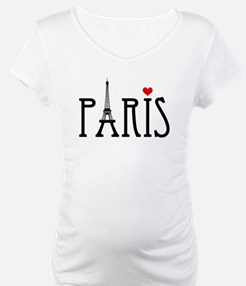 Love Paris with Eiffel tower and red heart Materni