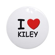I love Kiley Ornament (Round)