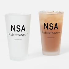 NSA Not Secret Anymore Drinking Glass