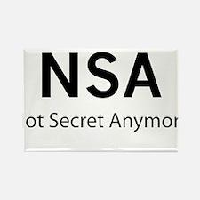 NSA Not Secret Anymore Rectangle Magnet
