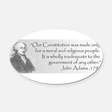 Unique John adams Oval Car Magnet
