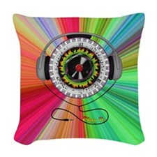 Music of Life Woven Throw Pillow