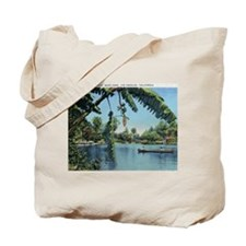 Canoeing on the Lake, Los Angeles, California Tote