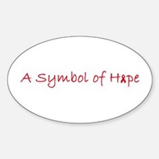Symbol of Hope Oval Decal