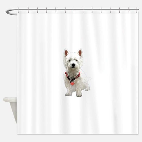 Cute West highland white terrier Shower Curtain