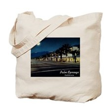 Night Scene, Palm Springs, California Tote Bag