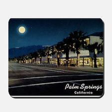Night Scene, Palm Springs, California Mousepad