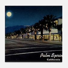 Night Scene, Palm Springs, California Tile Coaster