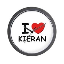I love Kieran Wall Clock