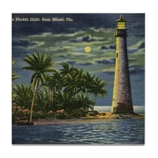 Cape Florida Light House, Miami Vintage Tile Coast