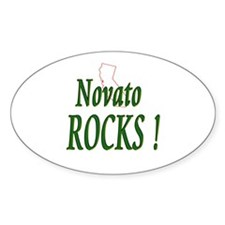 Novato Rocks ! Oval Decal